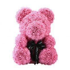 ours en rose de couleur rose grande taille