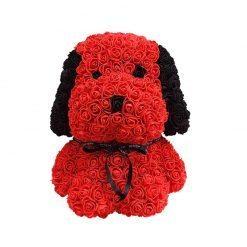 chiot en rose éternelle rouge et noir