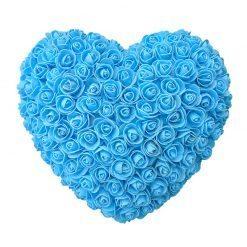 coeur en rose bleu