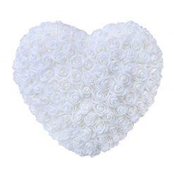 Coeur en rose blanc
