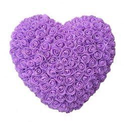 cœur en rose violet