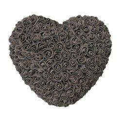 coeur en rose éternelle noir
