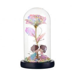 rose galaxy sous cloche bisou d'enfant