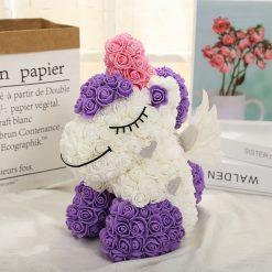 funny licorne en rose violette et blanche