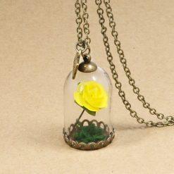 collier rose éternelle rose jaune