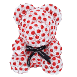 ours en rose éternelle blanc et rouge