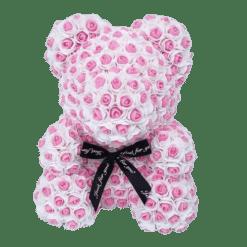 ours en rose éternelle rose et blanc