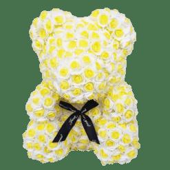 ours en rose éternelle jaune et blanc