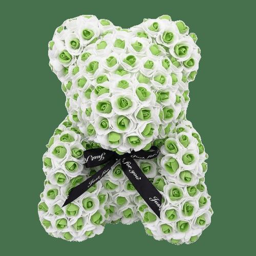 ours en rose éternelle vert et blanc