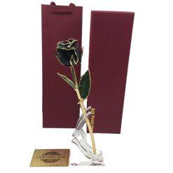 rose éternelle en or noire