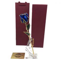 rose éternelle en or bleue