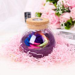 rose éternelle bocal en verre lampe magique violette