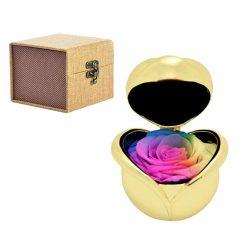 boite rose éternelle multicolore porte alliance